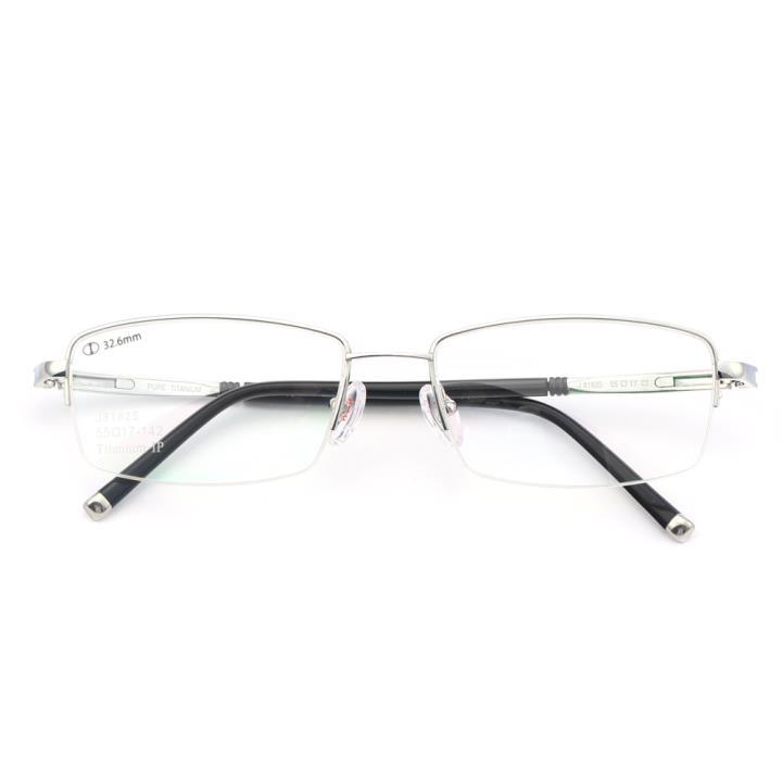HAN纯钛光学眼镜架-亮银(J81825-C2)
