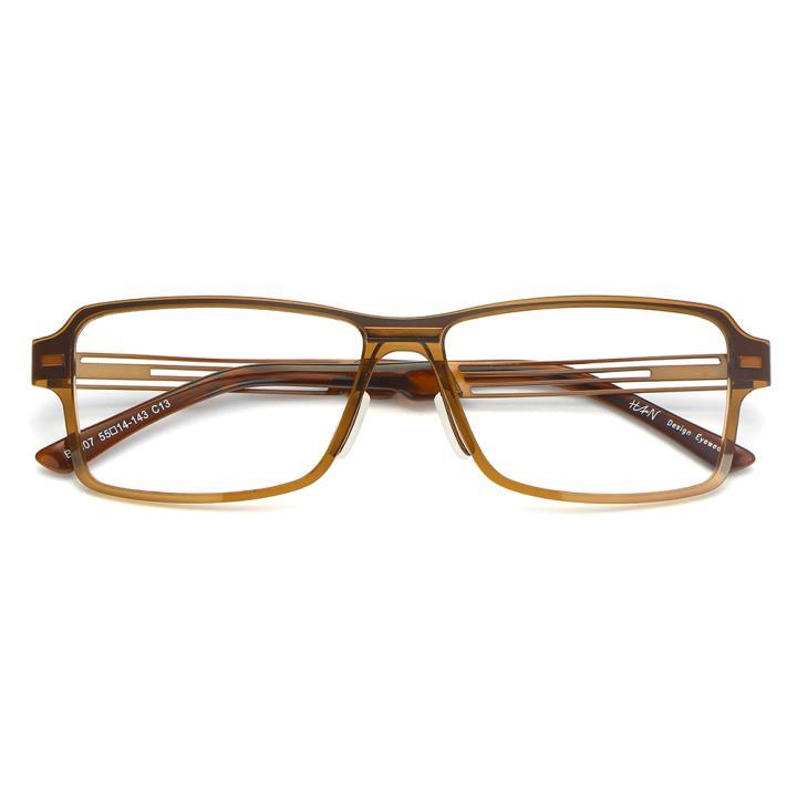 HAN尼龙不锈钢光学眼镜架-典雅茶色(B1007-C13)