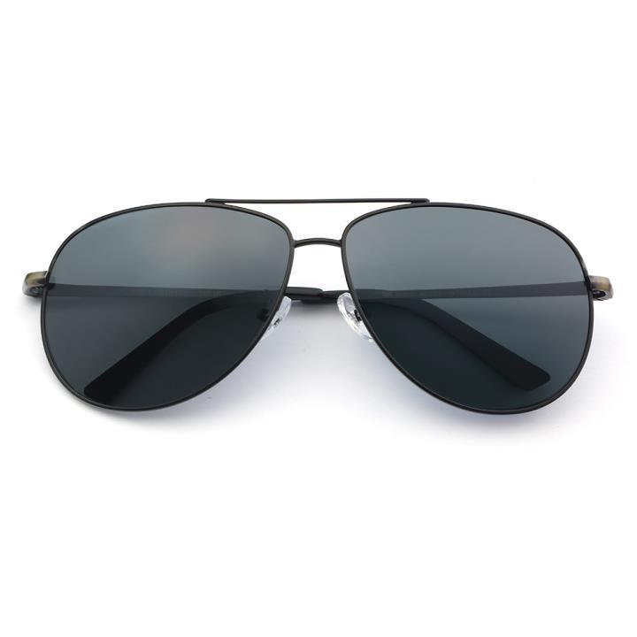 HAN SUNGLASSES不锈钢偏光太阳眼镜-黑框黑灰片(HN52023L C1)