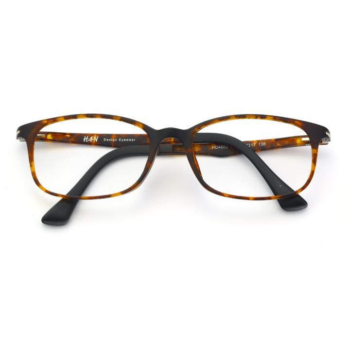 HAN塑钢时尚光学眼镜架-复古玳瑁(HD4882-F03)