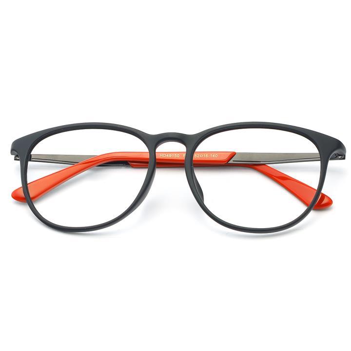 HAN MEGA-TR钛塑板材光学眼镜架-低调哑黑(HD49150-F02)