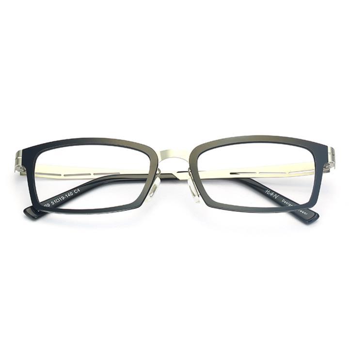 HAN尼龙不锈钢光学眼镜架-经典纯黑(B1009-C4)