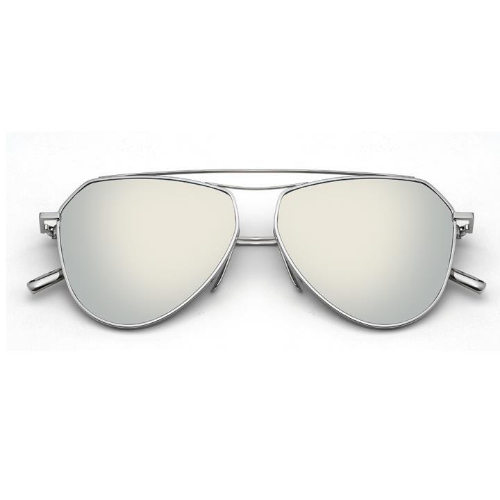 HAN RAZR-X9 白铜不锈钢炫彩太阳眼镜-银框银片(HD59125 S09)
