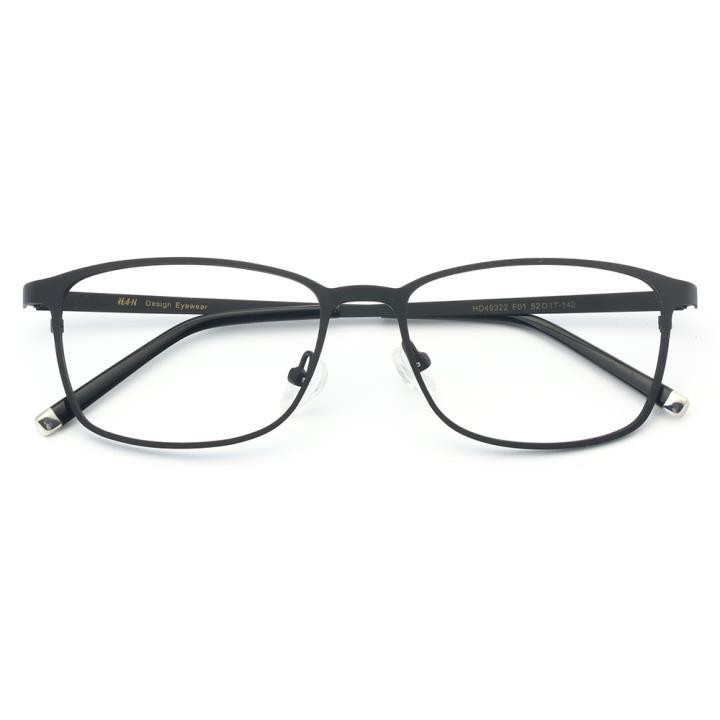 HAN时尚不锈钢光学眼镜架-哑黑色(HD49322-F01)