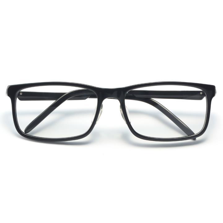 HAN醋酸纤维白铜光学眼镜架-经典亮黑(HD49310-F01)