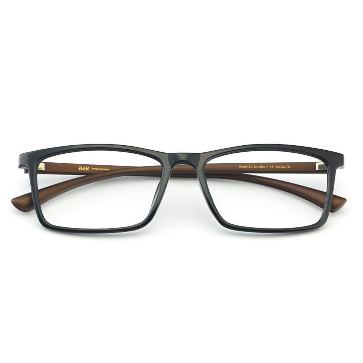 HAN MEGA-TR钛塑光学镜架-黑棕色(HD49172-C4)