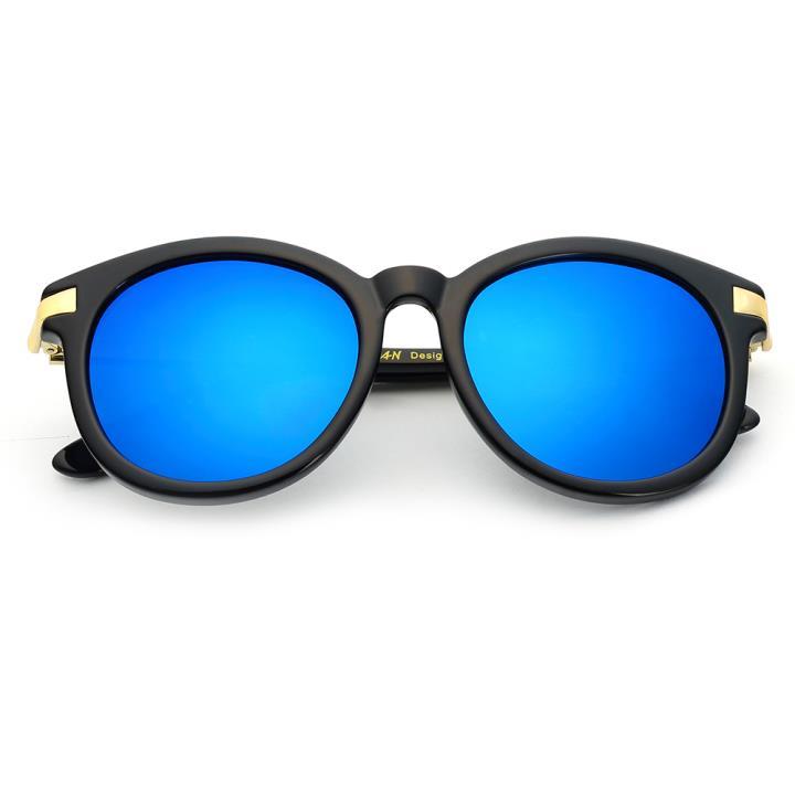 HAN时尚偏光太阳镜-黑框蓝色片(HD5807-S07)