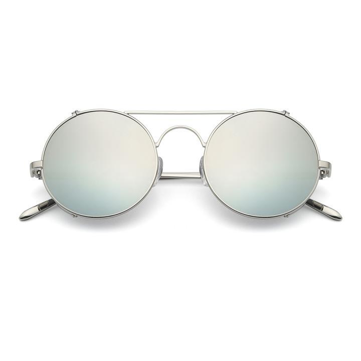 HAN RAZR-X9不锈钢偏光太阳眼镜-银框白水银片(HN51201 C5)