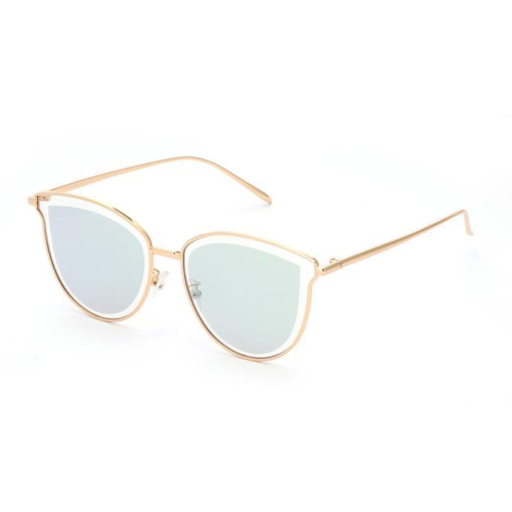 HAN防UV太阳眼镜HN52071L C2 金框蓝绿片(不同光线下反射色变化)