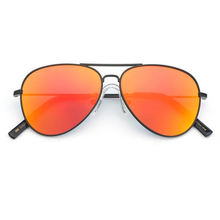 HAN COLLECTION不锈钢儿童太阳眼镜-黑框橘红片(HN52004-C3)
