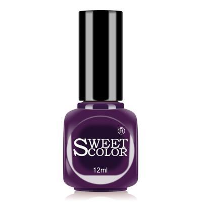 sweetcolor微光疗漆光指甲油12ML 典雅紫CMA04