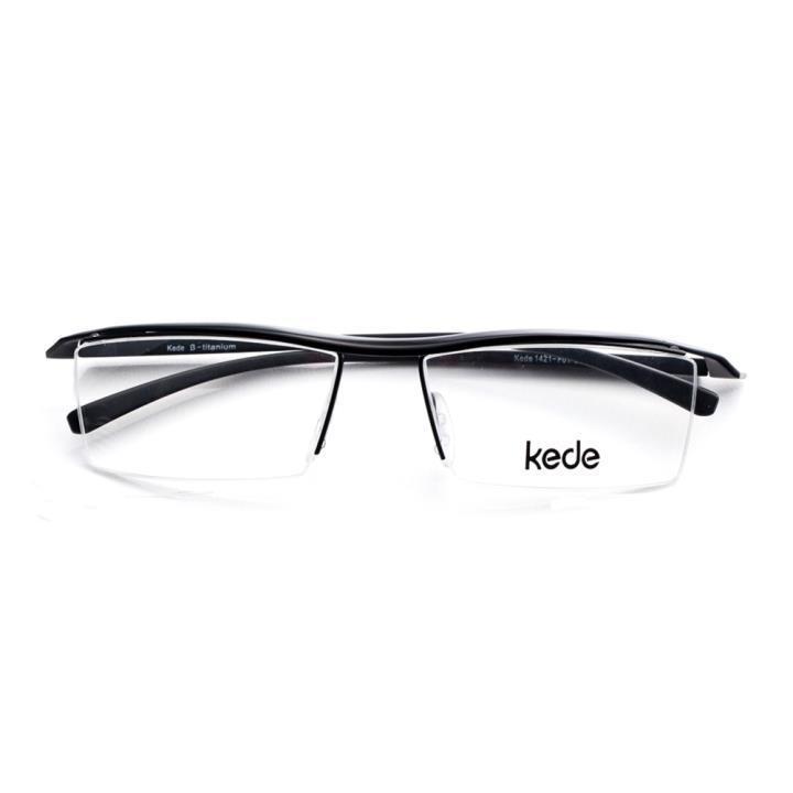 Kede时尚光学眼镜架Ke1421-F01  亮黑