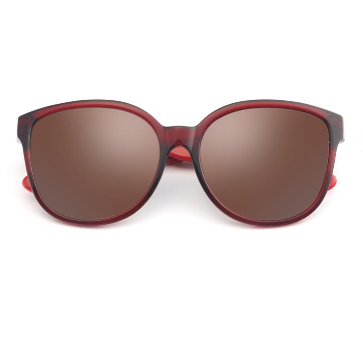 HAN板材偏光太阳镜-红框渐进棕片(HN59350-C3)