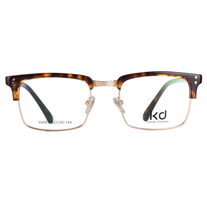 KD设计师手制复古板材金属眼镜架kb003-C3