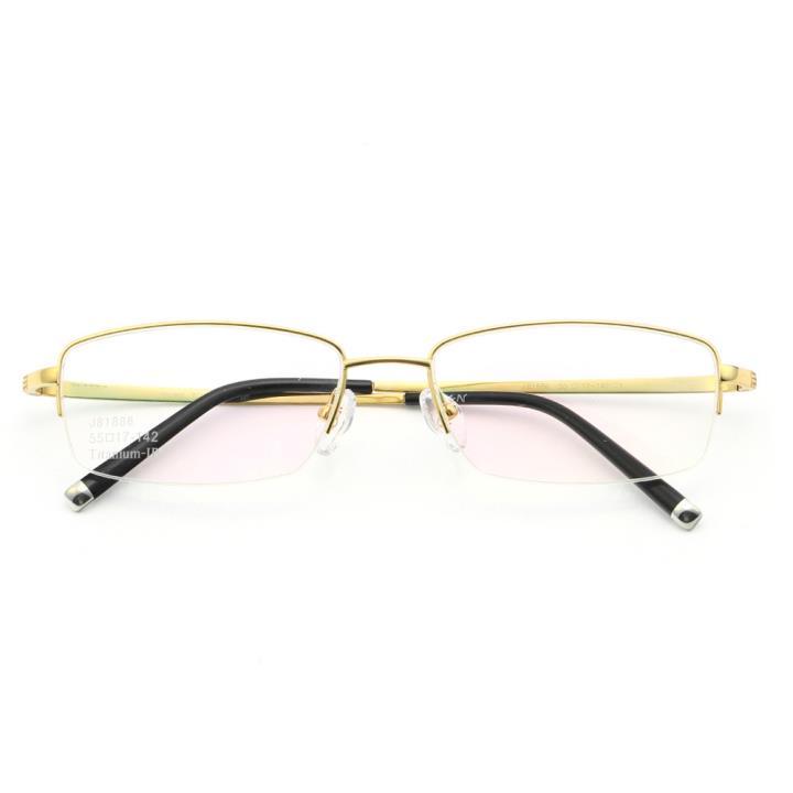 HAN纯钛光学眼镜架J81886-C1炫酷金色