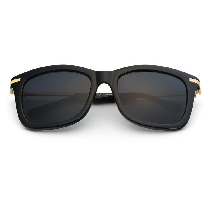 HAN时尚偏光太阳镜-黑框黑灰片(HD5805-S01)