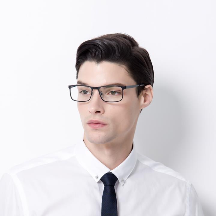 HAN COLLECTION不锈钢光学眼镜架-红棕色(HN42052 C3/L)