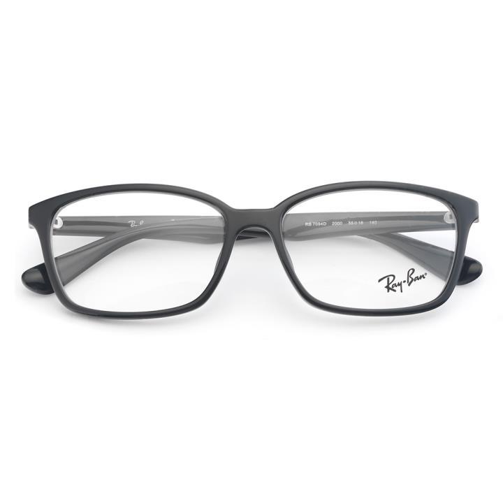 RAY BAN雷朋眼镜架0RX7094D 2000 55 亮黑色