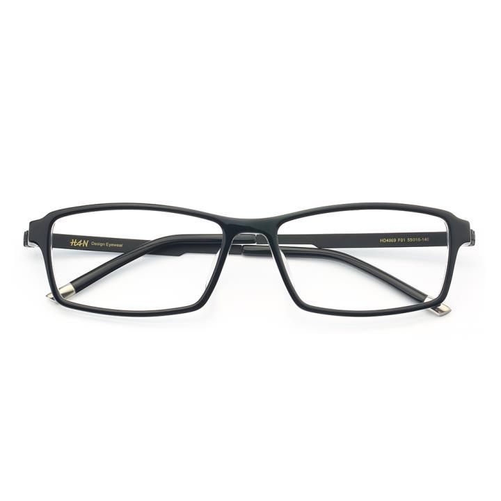 HAN时尚光学眼镜架HD4869-F01 黑透白