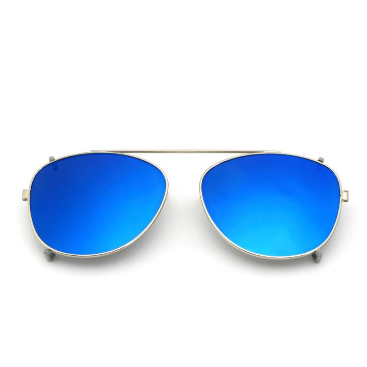HAN时尚偏光套镜夹片HD5817-S07 银色框蓝色片