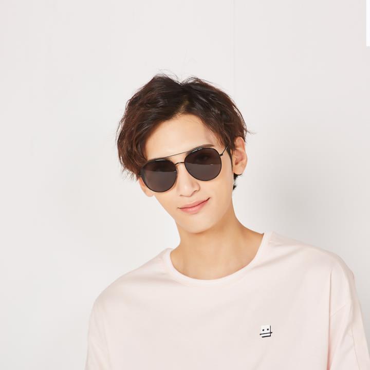 HAN SUNGLASSES不锈钢防UV太阳眼镜-银框银色片(HN52017L C2)