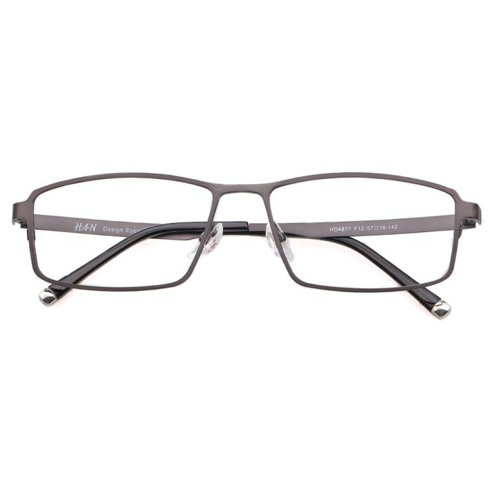 HAN时尚光学眼镜架HD4877-F12 低调枪灰