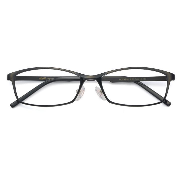 HAN MEGA-TR钛塑不锈钢光学眼镜架-经典亮黑(HD49204-F01)