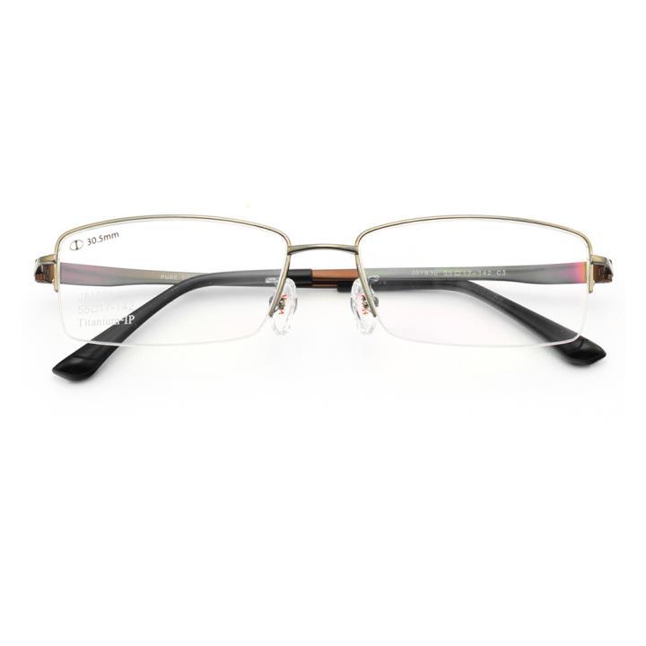 HAN纯钛光学眼镜架-低调枪灰(J81636-C3)