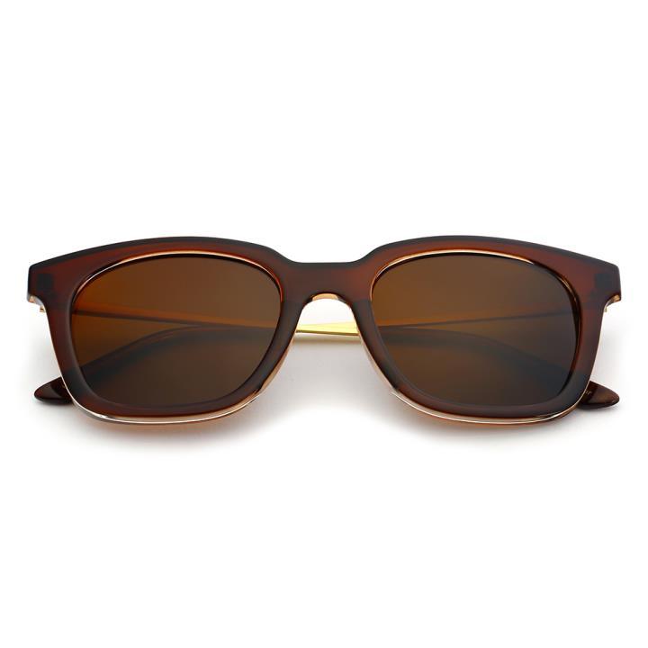 HAN时尚偏光太阳镜HD5806-S04 棕框茶色片
