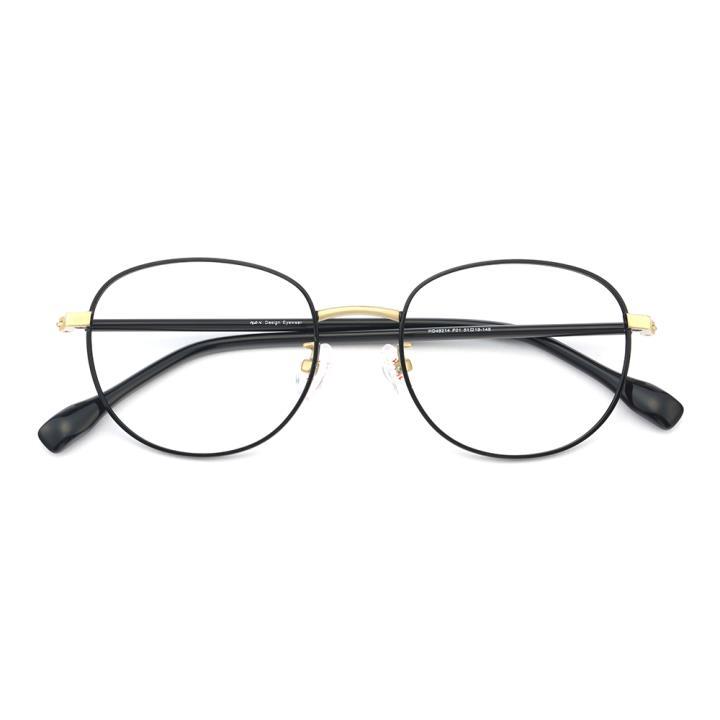HAN不锈钢板材光学眼镜架-经典亮黑(HD49214-F01)