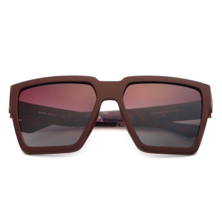 HAN时尚偏光太阳镜HD59307-S06 咖框紫色片