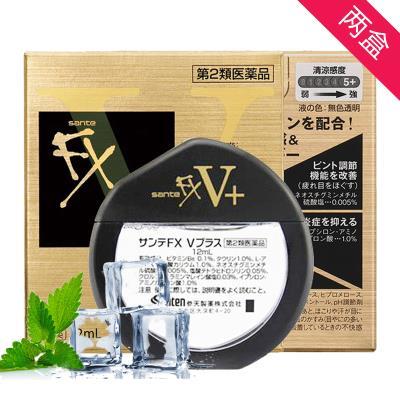 日本Sante参天FX neo金色眼药水营养清凉型滴眼液12mL双瓶装