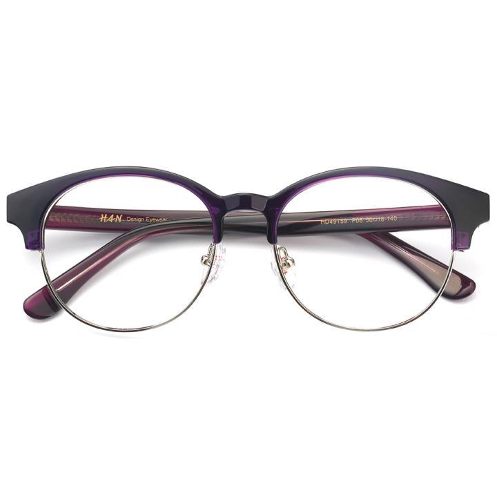 HAN板材金属光学眼镜架-魅力深紫(HD49159-F08)