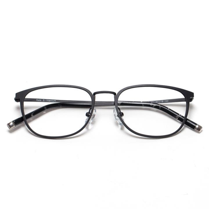 Kede时尚光学眼镜架Ke1413-F01  亮黑