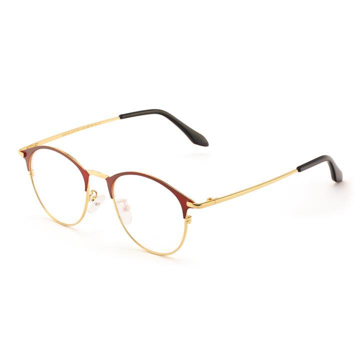 HAN COLLECTION 金屬全框光學眼鏡架-金屬紅色(HN42060M C3)