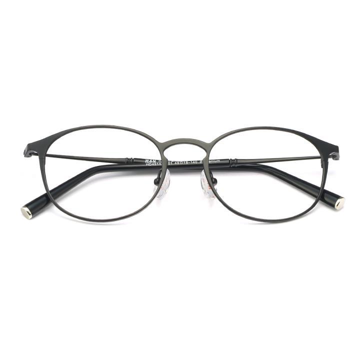 HAN纯钛光学眼镜架-哑黑(HD49143-F01)