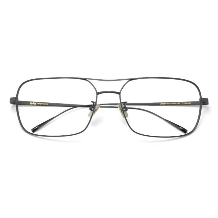 HAN纯钛光学眼镜架-黑色近视框(JK5850-C2)