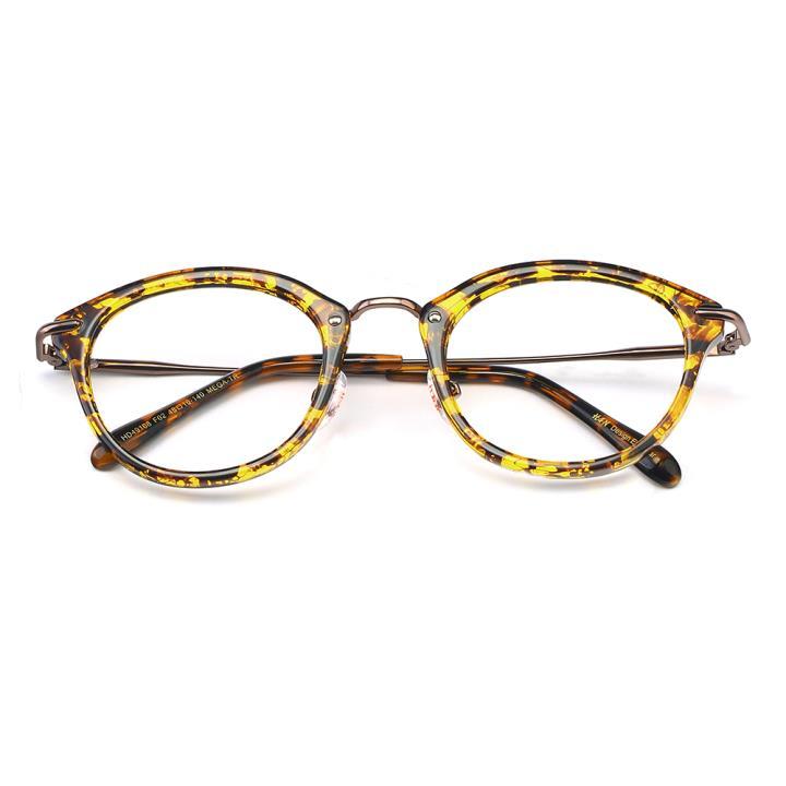 HAN MEGA-TR钛塑光学眼镜架-黄玳瑁(HD49168-C2)