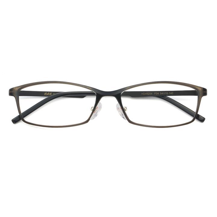 HAN MEGA-TR钛塑不锈钢光学眼镜架-低调深灰(HD49204-F04)