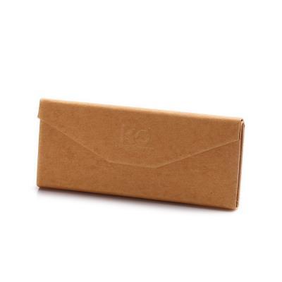 KD三角折叠手工眼镜盒 牛皮纸