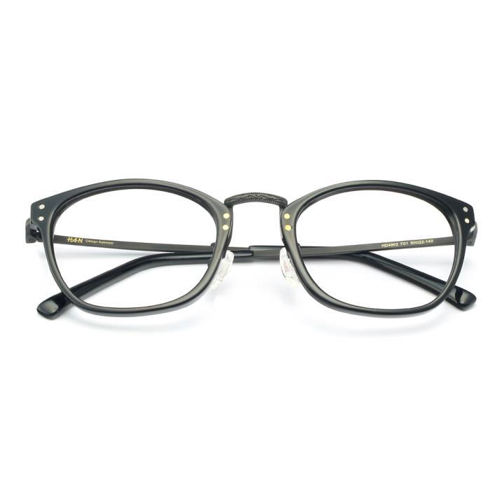HAN板材光學眼鏡架-亮黑色(HD4902-F01)