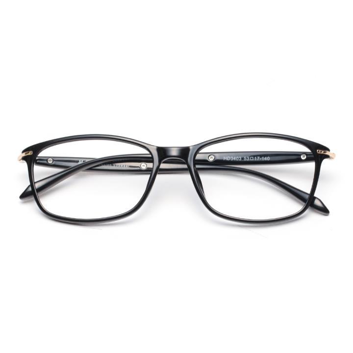 HAN MEGA-TR钛塑近视眼镜架-亮黑(HD3403-F01)