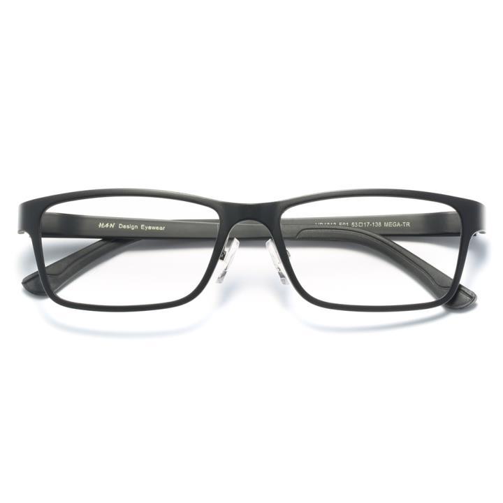 HAN时尚光学眼镜架HD4812-F01 经典哑黑