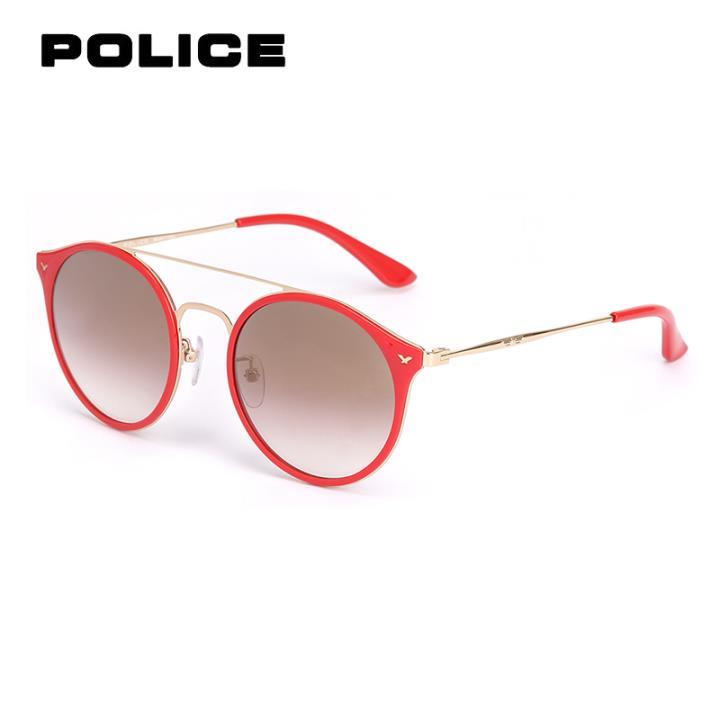 POLICE太阳眼镜SPL213G 539FGG红框红灰片