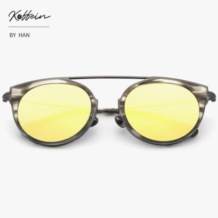 Koffein防UV太阳眼镜Max COL.4 灰纹框金片(送配套镜盒)