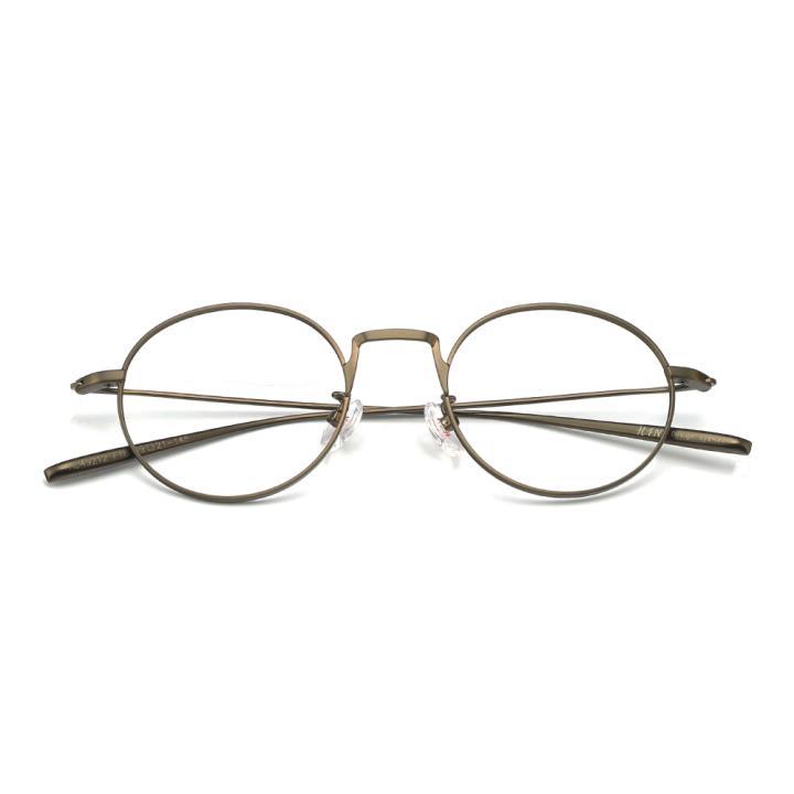 HAN不锈钢光学眼镜架-哑金色(HD49212-F18)