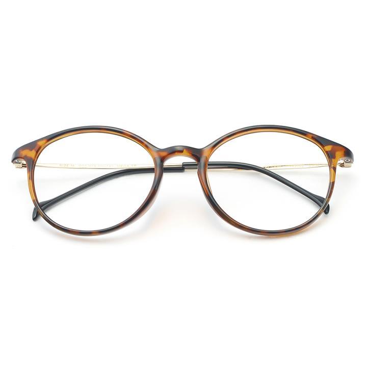 HAN COLLECTION TR钛塑光学眼镜架-亮玳瑁(HN43002 C3)