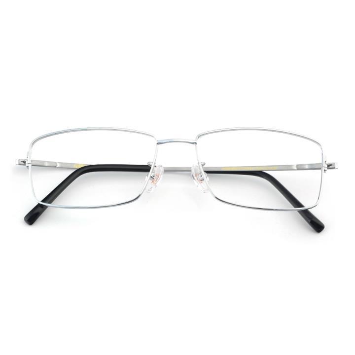 HAN纯钛板材光学眼镜架-秀丽亮银(HN49377-C01)