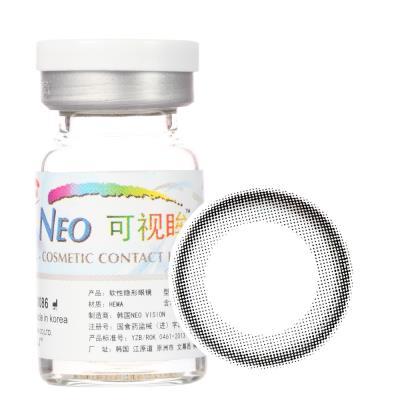 NEO可视眸巨目彩色隐形眼镜年抛一片装N012 小黑环