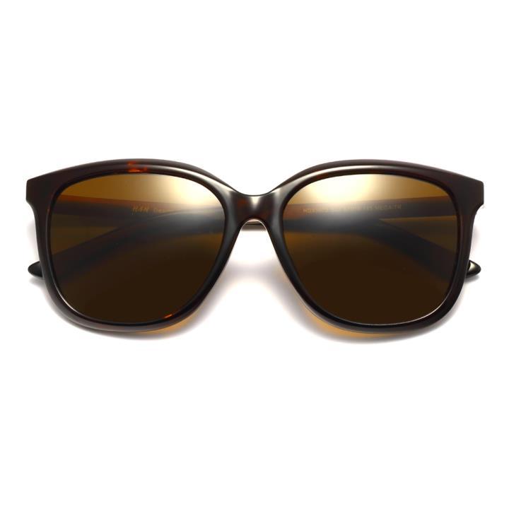 HAN时尚偏光太阳镜HDX5803-S03 玳瑁框茶色片